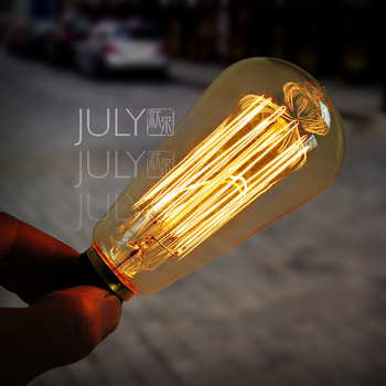 Style July antique decoration special tungsten wire 220v e27 tungsten light bulb