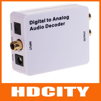 Digital to Analog Audio Decoder SPDIF/Coaxial 5.1-Channel Input to RCA L/R/3.5mm Headphone Output HDCITY