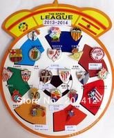 2013 - 2014 Spain Espana Soccer Teams SPANISH LA LIGA Set of 21 pcs Metal Pins Badges Free Shipping