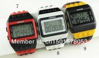 10pcs/lot Shhors Rainbow Watch LED watches Unisex led time Display Plastic Belt shhors Drop shipping