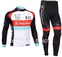 2013 NEW!!! Radioshack team long sleeve autumn cycling wear clothes bicycle bike riding cycling jersey pants set