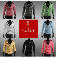 Free Shipping New Korean leisure self-cultivation Mens sweater man coat Sweatshirt high quality hot 8 color M-XXL