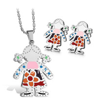 2013 Fashion Health Jewelry Sets WHOLESALE chain earring pendants stainless steel jewelry set FASHIONABLE free shipping