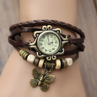 Popular items!!! High Quality Women Genuine Leather Vintage Watch,bracelet Wristwatches butterfly,100% Excellent Quality