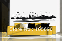 NEW Home sticker 40*180cm landscape from istanbul Wall paper decor art Decals Vinyl No52