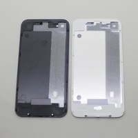 8161 original black white glass battery cover back replacement housing for iphone4 4s with free shipping