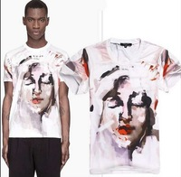 2013 new men's t-shirt unsex short sleeve fashion shirt camo head t-shirts with brand tag label Casual 100% cotton tee
