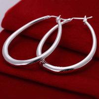 E080 silver earrings 925 sterling silver fashion jewelry earrings beautiful earrings high quality Solid U Shape Earrins