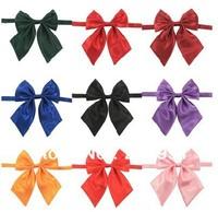Best sell Female Cravat women's bow tie solid color bowtie cravat ,10 color selection,Freeshipping