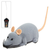 Funny Electronic Remote Control Mouse Toy for Trick/Playing with Cat (Gray)