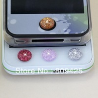 free shipping  so popular  bling  home button sticker . gold home button for iphone 60pcs/lot