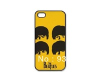 2013 new arrive pieces plastic yellow background you favorite star the beatles cheap cover Case for iPhone 4 4s