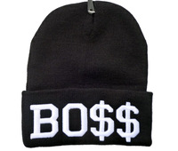 Free Shipping BOSS Knitted Hat Hip Hop Beanies snapback Cap Winter Hat Homies Wated Beanies caps Hot Sale