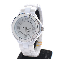 Ceramic quartz watch female form watch fashion table vintage table fully-automatic lovers watchband