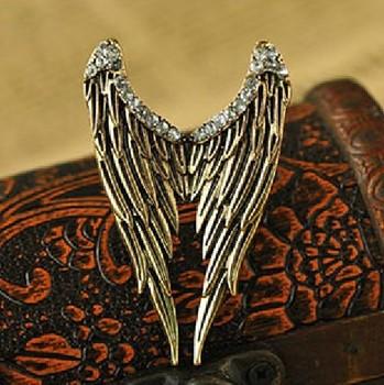 Fashion vintage jz0272 accessories vintage diamond feather open ring