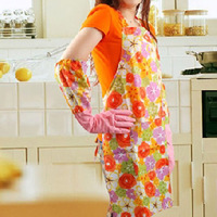 1316 princess print quality waterproof pvc apron sleeveless apron halter-neck bibs
