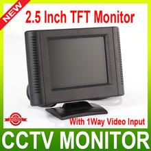 2.5 pulgadas LCD TFT digital de color de monitor del coche , monitor de cámara cctv con entrada de vídeo 1way(China (Mainland))