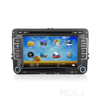 Free 4GB memory Card Free map  24 Radio Station Car DVD Player Car Stereo Navigator For VW Sagitar