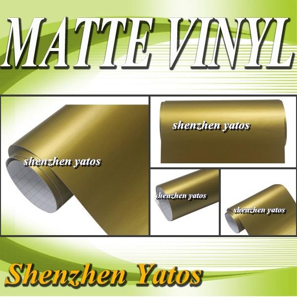 Matte Pearl Gold Vinyl Film Roll Car Wrap Air Channels For car sticker / Air Bubbles/ 5M /10M/15M/20M/30M(China (Mainland))