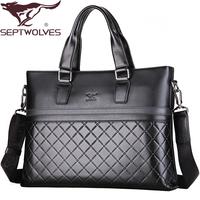 2013 SEPTWOLVES man bag male shoulder bag messenger bag casual handbag cowhide commercial