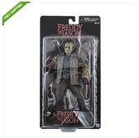 Free Shipping High Quality Cool ! Freddy vs. Jason 21cm PVC Authentic PVC Figure New In Box Nice Gift