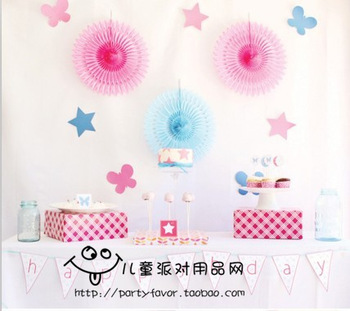 Fashion decoration birthday paper decoration pink department of paper fan