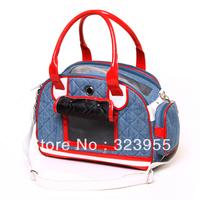 Japan Branded Pet Bag Jeans Pet Bag Portable Pet Dog Cat Tote Pet Portable Backpack EMS Free Shipping