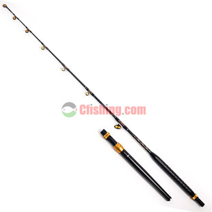 Deep sea 1.98 meters boat fishing rod lure rod iron plate electric boat pole pulley guide ring