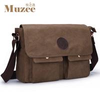 Vintage canvas man bag casual bag shoulder bag messenger bag small bag