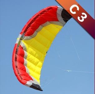 C3 Kite Traction Kite,Kite surfing exercises,Three line Kite with kite bar and 300lb kite line free shipping