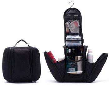 2014 Black supper men's travel  bags save space mini Hanging Hook Travel bags Toiletry Kit New Orgarnizer Shaving Bag