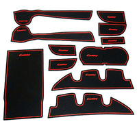 Free ShippingRed Non-Slip Interior Door Mat Cup Mat for 7 Gen Toyota Camry 2012-2013 11 PCS Y927