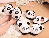 2013 new winter home cotton slippers warm slippers cartoon panda flooring Christmas Free shipping