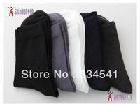 20Pcs=10pairs/lot Bamboo fiber Men's sock high quality Business Casual male long socks classic Brand Men's Socks100% cotton sock