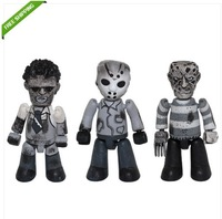 Free Shipping High Quality Kubrick Freddy&Jason&Frankenstein Cinema of Fear Black&White Set of 3pcs