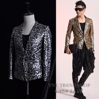 Tnt fashion men's clothing bronzier bling series casual suit costumes costume