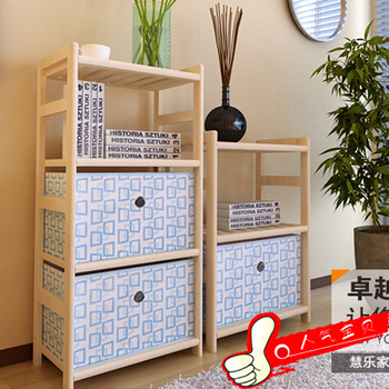 Shelf bookshelf wool study furniture fashion storage rack with drawer cloth storage box shelf