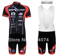 2013 NEW!!! CUBE #2 bib short sleeve cycling jerseys wear clothes bicycle/bike/riding jerseys+bib pants shorts