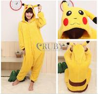 Pokemon PIKACHU Fashion Pajamas Anime Cosplay Costumes Womens Mans Pajamas Onesies for adults hooded animal costumes Pyjamas
