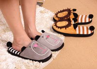 2013 new cute lion couple cotton slippers home slippers free shipping animal models Home