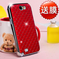 for SAMSUNG note 2 case n7100 cover  rhinestone phone case galaxy note2 protective case mobile phone case
