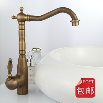 Antique copper faucet fashion bathroom basin table hot and cold faucet rotating