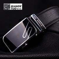 Strap male genuine leather strap automatic buckle cowhide belt heterochrosis camel broadened male fashion waist belt