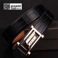 Strap male genuine leather smooth buckle discoloration camel multicolor white black cowhide belt fashion belt