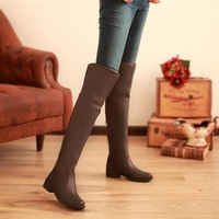 2013 repair fashion round toe long boots girls black brown slip-resistant pants boots  Free shipping brand