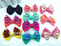 2013 fashion 10pcs u pick big double Layer Bow Hair Clips Aligator Clip hair bows clips lot