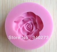 1PCS Rose shape Chocolate Candy Jello 3D silicone Mold Cartoon Figre/cake tools Soap Mold Sugar craft Cake Decoration CC083