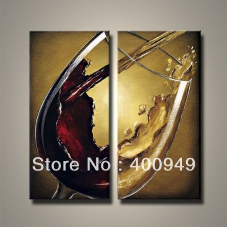 2pcs High Quality Modern Abstract still life Oil Painting on Canvas Art group home decoration Art picture on wall EL-1034(China (Mainland))