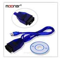 High Quality VAG-COM KKL 409.1 OBD2 USB Cable/Car Diagnostic Tool OBDII Scanner for AUDI & VW