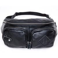 2013 male genuine leather bag outdoor casual waist pack handmade cross-body